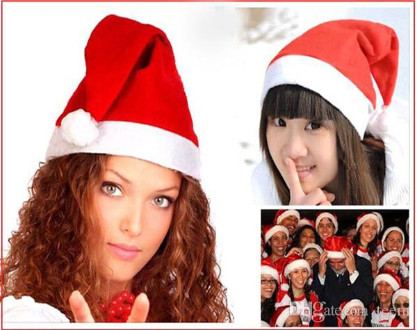 ebb3bb864a359 New Christmas Cosplay Hats Thick Ultra Soft Plush Santa Claus Hat 26 35cm Cute  Adults Christmas Cap Christmas Supplies DHL Boys Xmas Toys Cheap Xmas Toys  ...