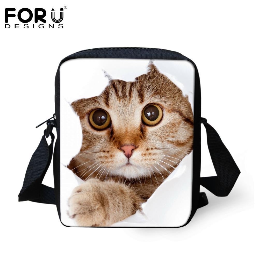 e570bcd02480 Wholesale FORUDESIGNS Women Cross Body Bags Cute 3D Animal Pet Cat Dog  Pattern Girl Shoulder Bags Ladies Casual Messenger Mini Iphone Bags  Messenger Bags ...