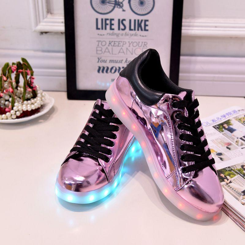 7 Light Colour Led Light 7 Zapatos Mujer Casual 2018 Spring Luminous Tenis Con 1f96b8