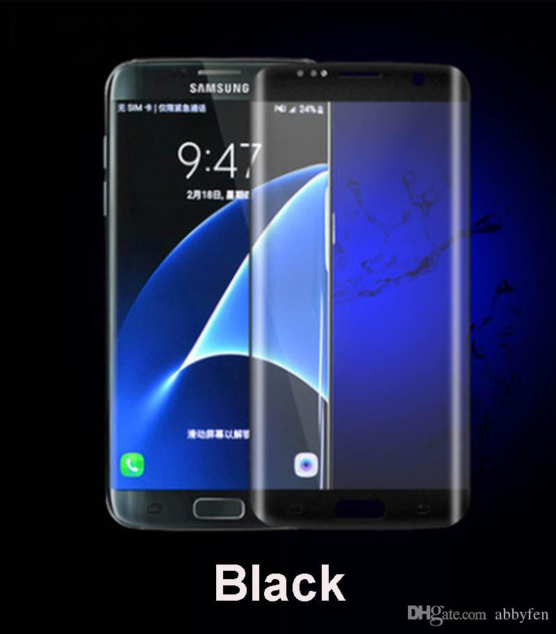 0.26MM For Samsung Galaxy S8 S8 Plus Note7 S7 Edge S6 Edge Plus S6 Edge Front Full Screen Tempered Glass 3D Curve Screen Protector