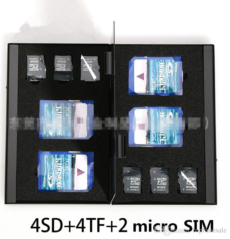 Thick SD CF TF SIM Card Box Wholesale High Quality Camera Memory Card Box Digital Storage Box Many Colors