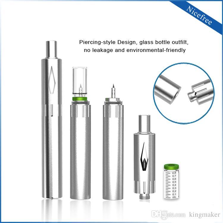Nouveau design bud nicefree Thick Oil vape stylo avec batterie 450mAh sans fil USB Chargeur verre rechargeable atomiseur 0.8ml sans cartouche de fuite