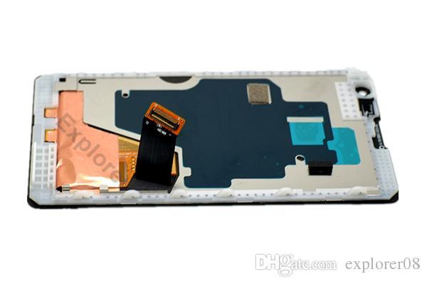 LCD Displa de la pantalla táctil de montaje con marco de vidrio templado para el Nokia Lumia 1020 de la Asamblea de LCD + Herramientas de prueba se ha superado