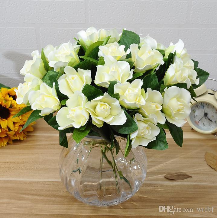 Bouquet Sposa Gelsomino.Silk Single Stelo Gardenia 30cm 11 81 Lunghezza Capo Artificiale Fiore Di Gelsomino Gardenia Per Accessori Da Sposa Fai Da Te