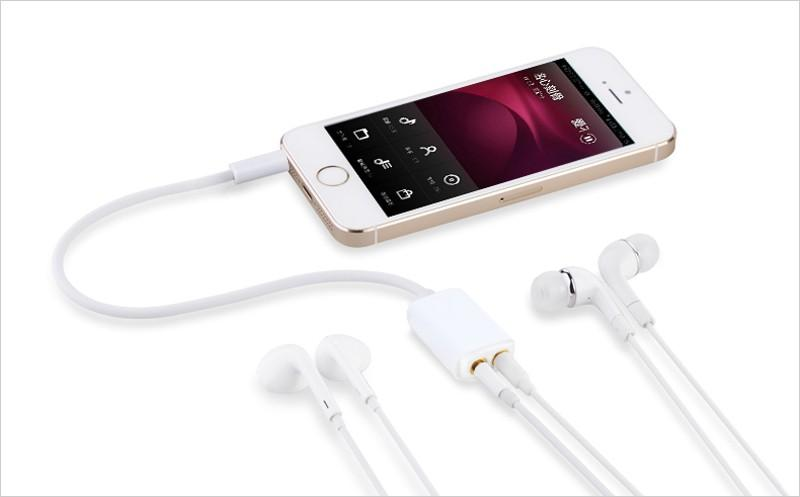 3.5mm jack parejas divisor de auriculares de cable de audio para apple iphone 6 6s más 5s 4s ipad ipod samsung xiaomi mp3 adaptador de auriculares