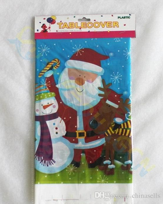 Christmas party decoration snowman Table cover bar hotel home decoration tablecloth PE Disposable Table clothes