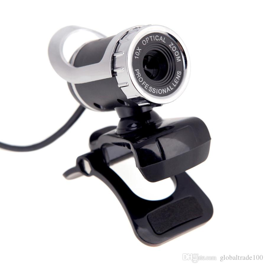 Webcam USB 12 Megapixel 360 Degrees USB 12M HD Camera Web Cam Clip-on Digital Video Webcamera with Microphone MIC for Computer PC Laptop