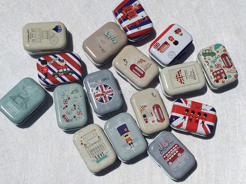 Creative Collective Tin Boxes Small Tin Box Metal Storage tins Candy Box Cartoon Pill Box Cute
