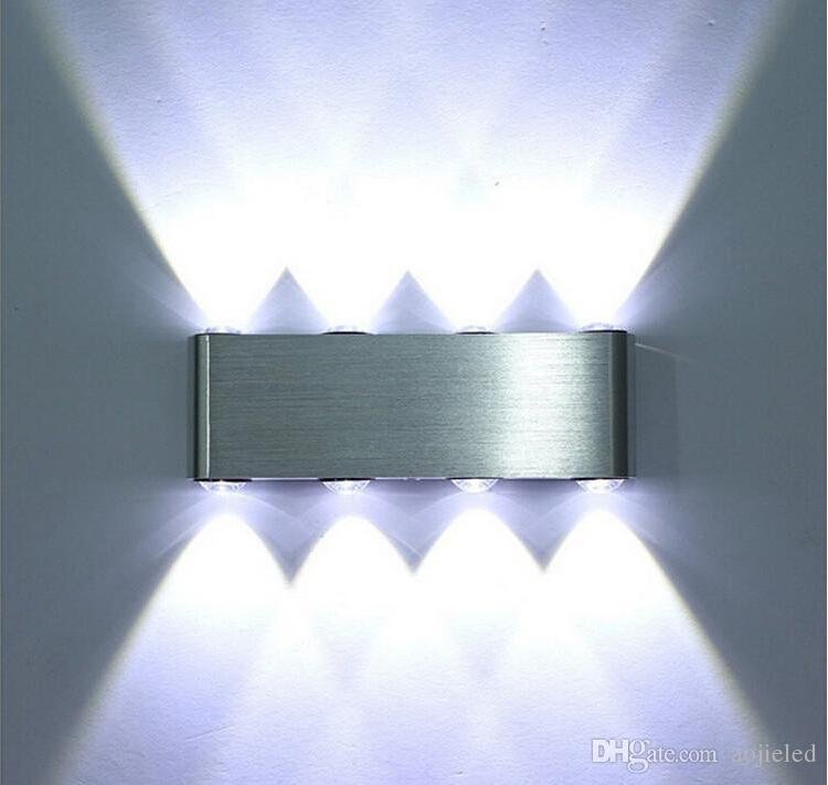 Indoor Fashion LED Wandleuchte 8W Warm Kalt Weiß Grün Blau Rot Dekorieren Wandleuchte Schlafzimmer Licht lesen Wandleuchte Dekoration Licht AC85 ~ 265V