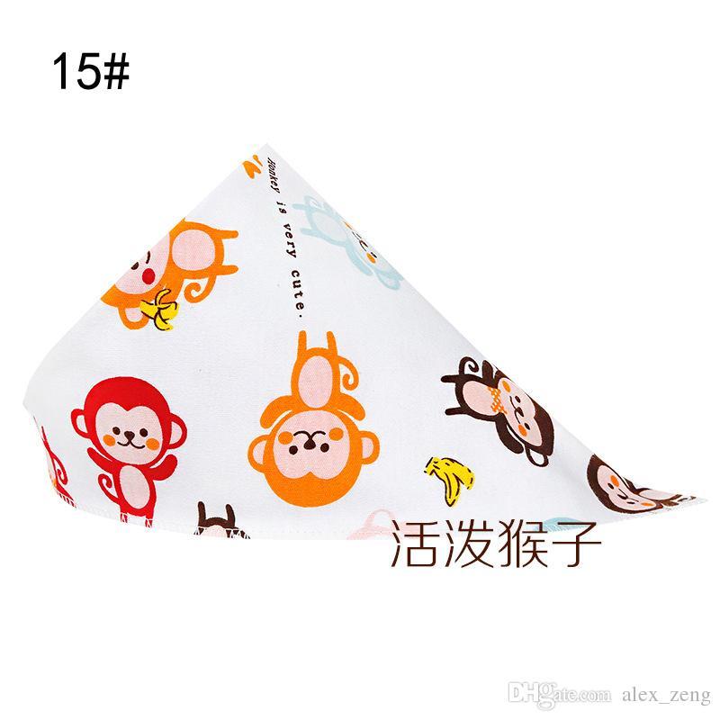 28 Stili Nuovi bambini Bavaglini Triangolo Bandana panni burp Bambino Cotone fazzoletto infantile Saliva Bavaglini Grembiule Grembiule Baby Feeding spedizione gratuita