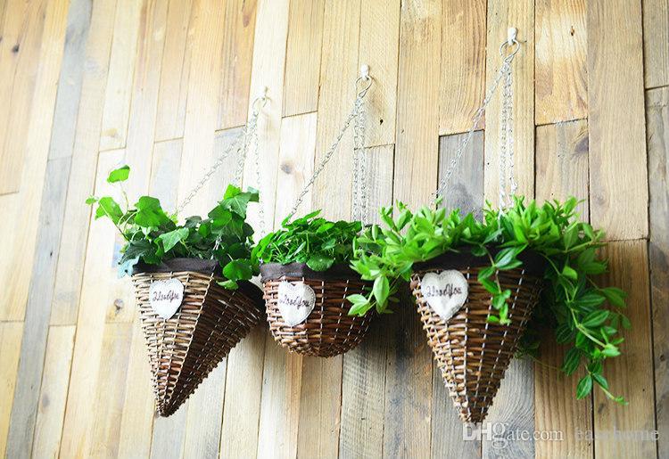 NOUVEAU panier à plantes avec crochet pour la décoration du jardin de la maison dans 5 modèles en branches de saule