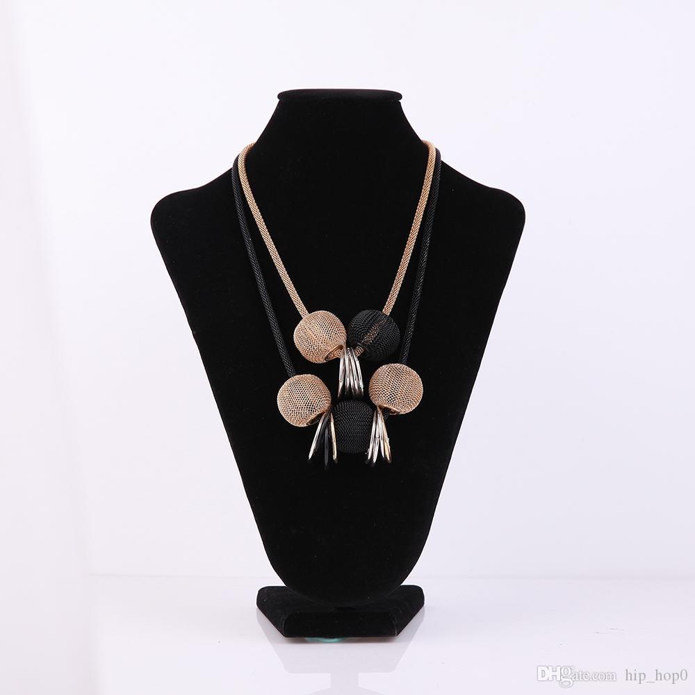 Le vendite multiple dorate di lusso delle collane di dichiarazione della collana del collare di modo delle collane di gioielli femminili femminili delle vendite calde