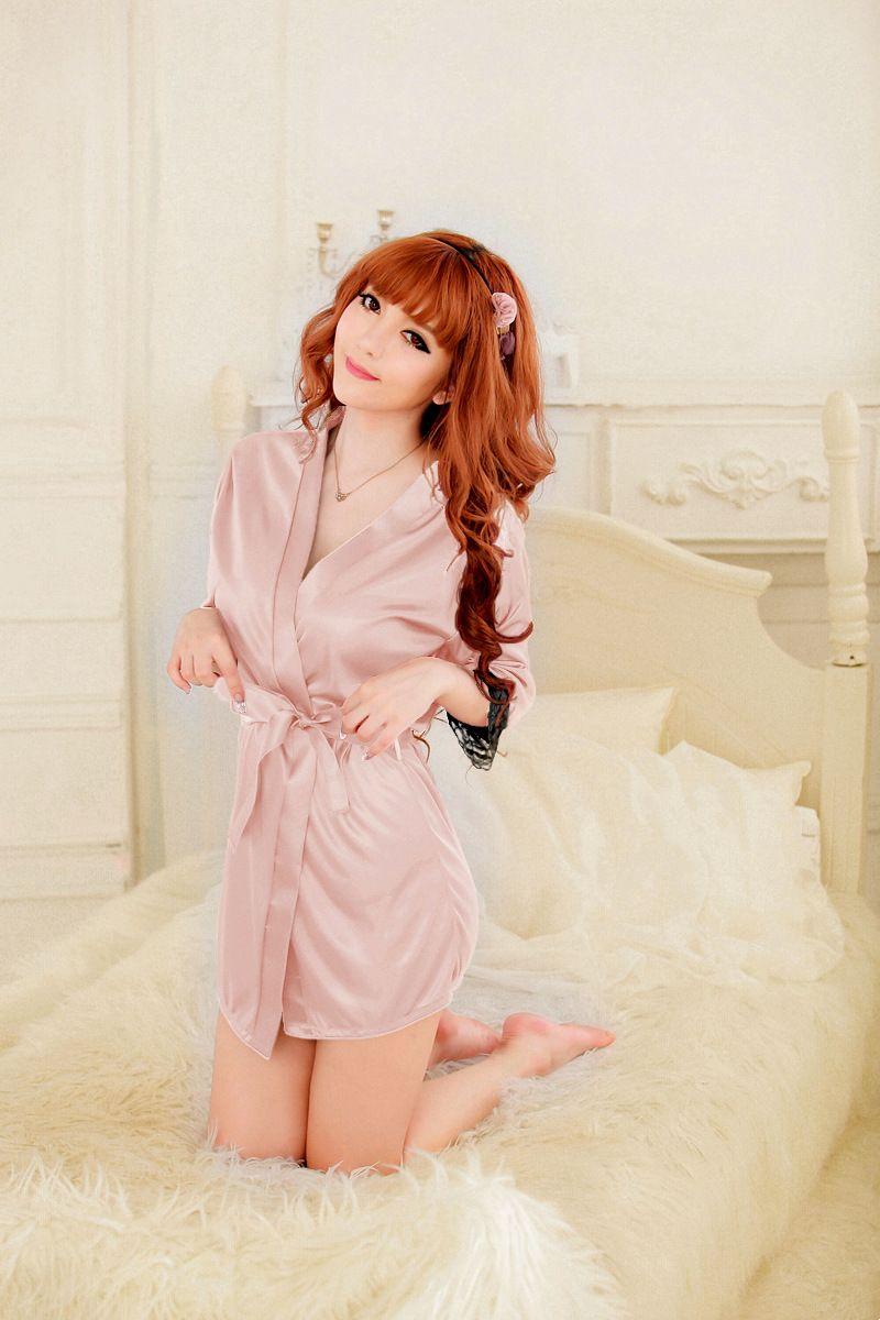 Moda feminina série de roupa interior Lingeries Sexy Camisola Roupões de banho Bodysuit rendas Shiny seda gelo sleepwear 8 cores