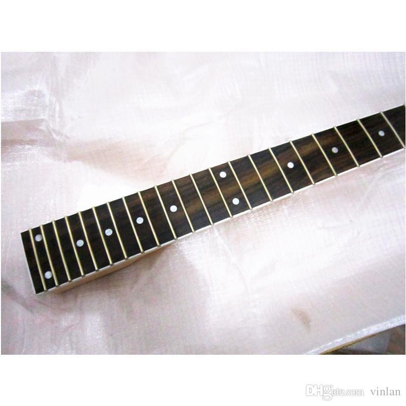 disado 24 Frets Inlay puntini acero Chitarra elettrica Collo in palissandro tastiera opaca vernice Accessori Chitarra all'ingrosso