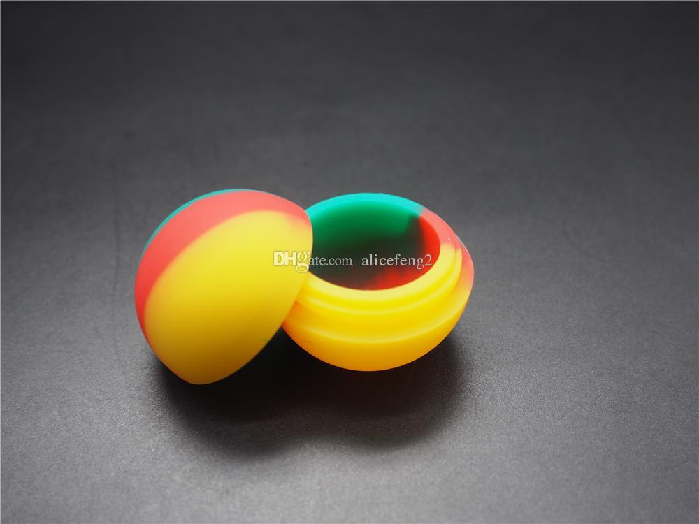 dab jar 50X ball design Silicone non-stick-BHO Dab Wax Oil Jar Container more than two colors /