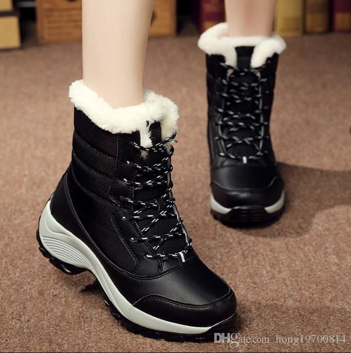 dd0dc9815aa8 Plus Size Women Snow Boots High Quality Winter Warm Boots Thick ...