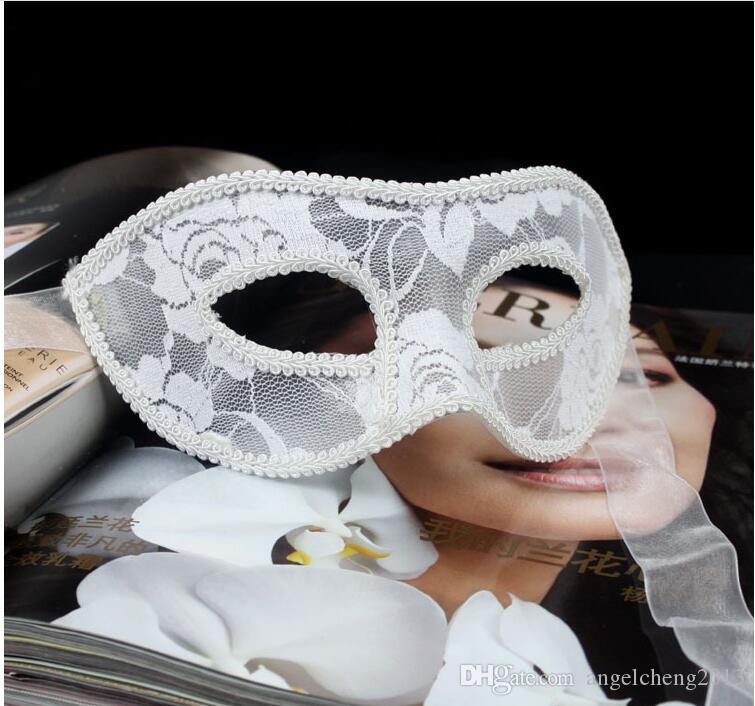 Venetian Lace Maske för Masquerade, Kostymbollar, Prom, Mardi Gras Män / Kvinnor Venetian Masquerade Eye Mask Tillbehör