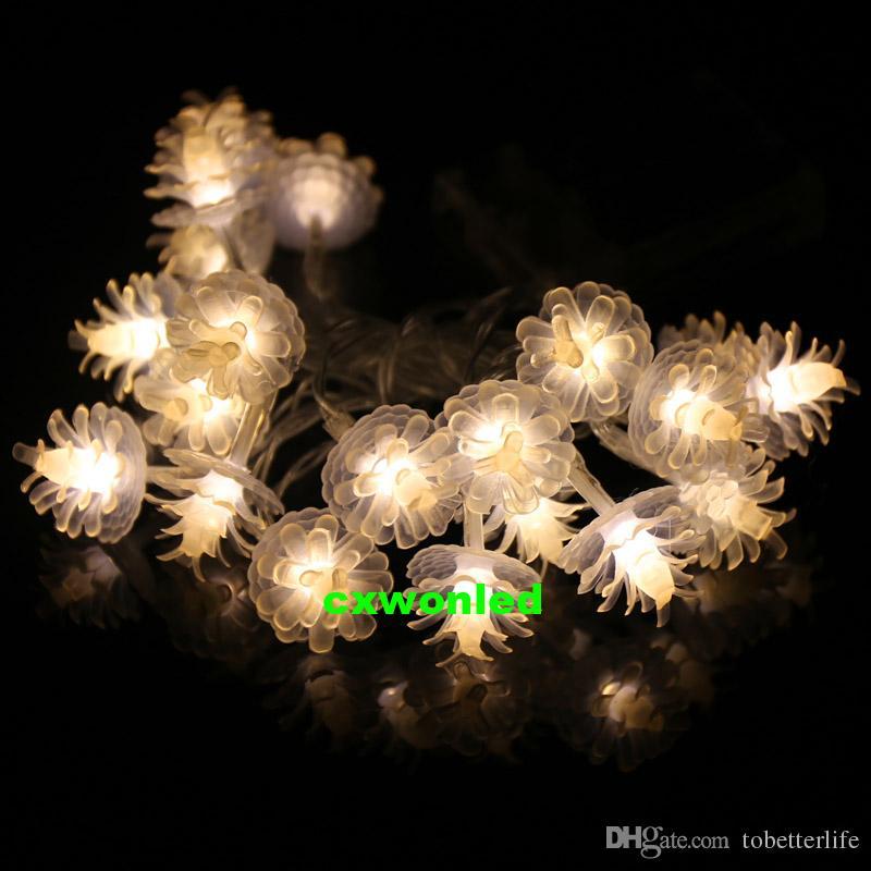 Christmas Holiday Lighting AA Batteria a luce 2M 20 LED Pine Cone String Fairy Light Christmas Tree Festival Decorazione di nozze feste