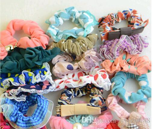 Mix Colors Hair Rubber Bands Hair accessories For Hair Jewelry Gift HJ011