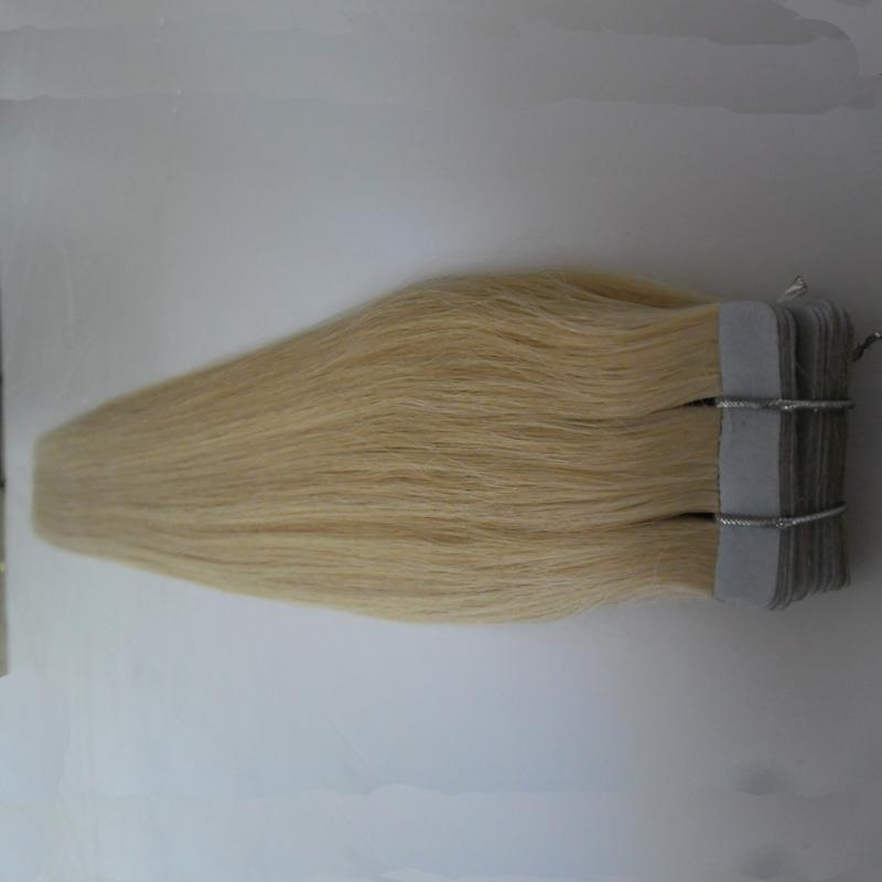 Tape Hair Extensions 100g Blonde Brazilian Virgin Remy Skin Weft Tape Adhesive Hair Extensions Products Tape Hair Extensions