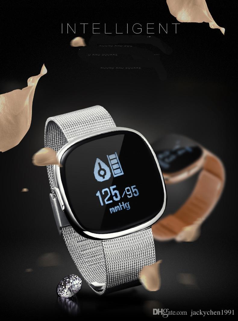 Smart Wristband JSK C2 Bluetooth 4.0 Smartband con monitorización de la presión arterial Recordatorio de llamadas para todos los sistemas móviles