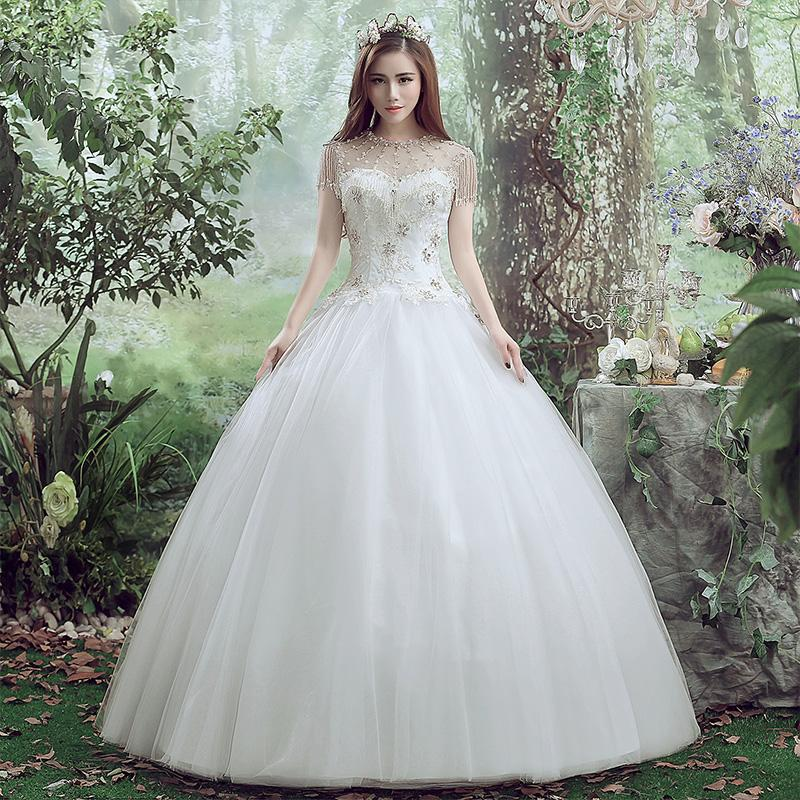 Discount New Retro Palace Princess Bride Wedding Dress Custom