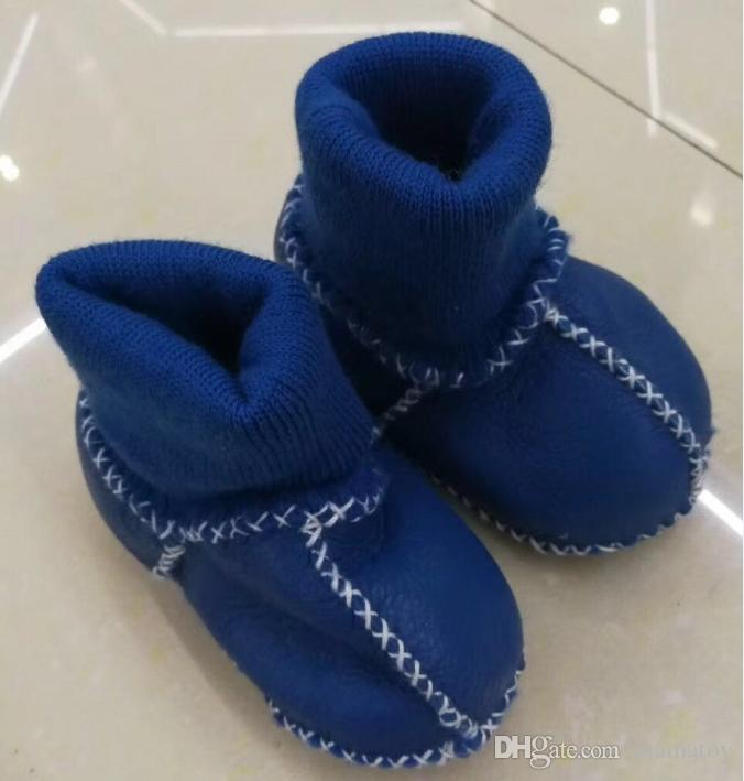 Baby Winter Toddler Shoes Handmade Wool First Walkers shoes for 12M with Spiral socks anti-drop design