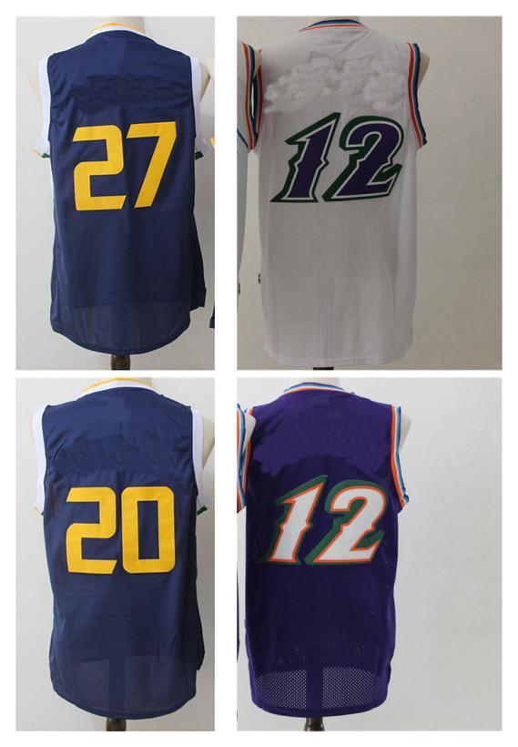 4cae22a71242 2017 Cheap Hot Sale Mens Basketball Jerseys 12 20 27 Fashion Retro ...