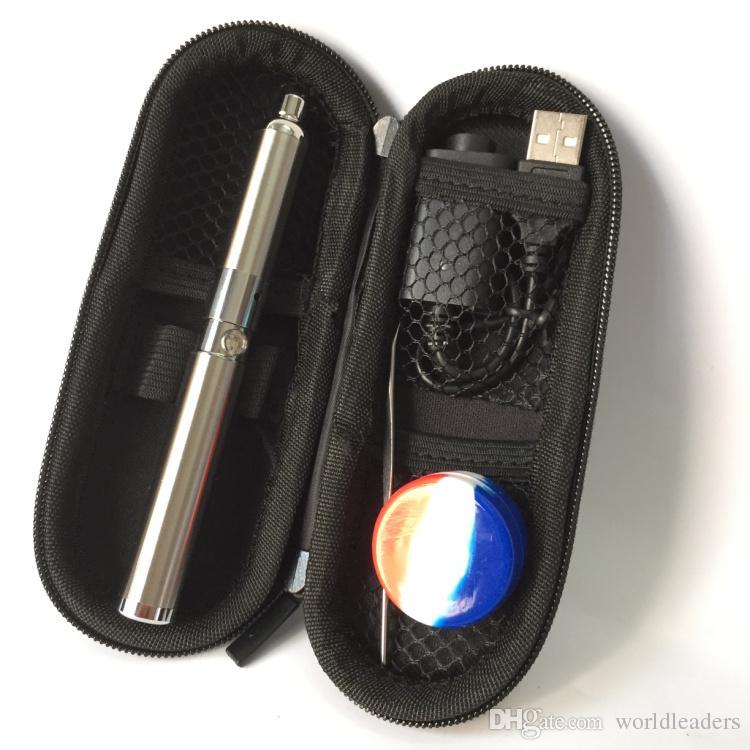 650mah eGo Thread Yocan Evolve Wax Vaporizer Herbal Starter Kit Quartz Cotton Coils dry herb e cig vapor Pen