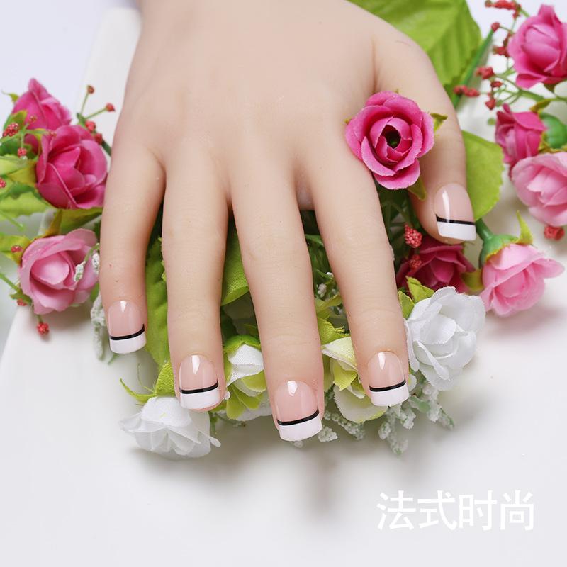 Classic Manicure Fashionable Joker Fake Nails Cute Fake Nails Patch ...