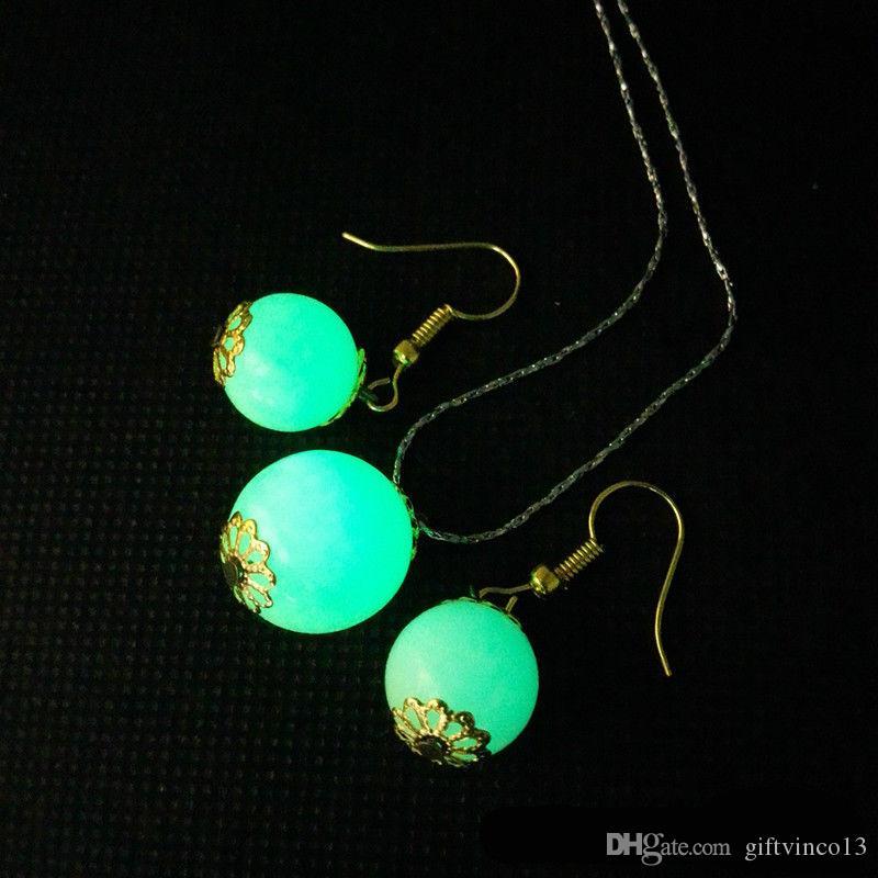 Natural Luminous Beads Pedra Redonda Solta Pérolas Brilho no Escuro 6mm 8mm DIY Pulseiras Brincos Colar de Jóias