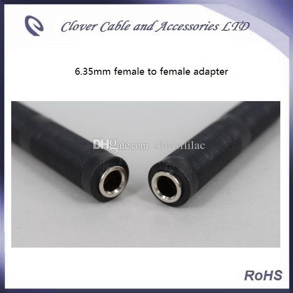 6.35mm female to 6.35mm female stereo Audio extender Connector Microphone Adapter