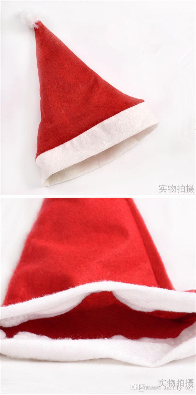 Noel Noel Baba Şapka Kırmızı Ve Beyaz Kap Parti Şapka Noel Baba Kostüm Noel Dekorasyon çocuklar için yetişkin için Noel Şapka