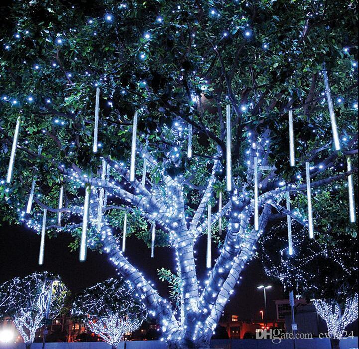 30 CM 144LED Meteor Yağmuru Yağmur Tüp LED Noel Işık Düğün Bahçe Noel Dize Işık Açık Tatil Aydınlatma