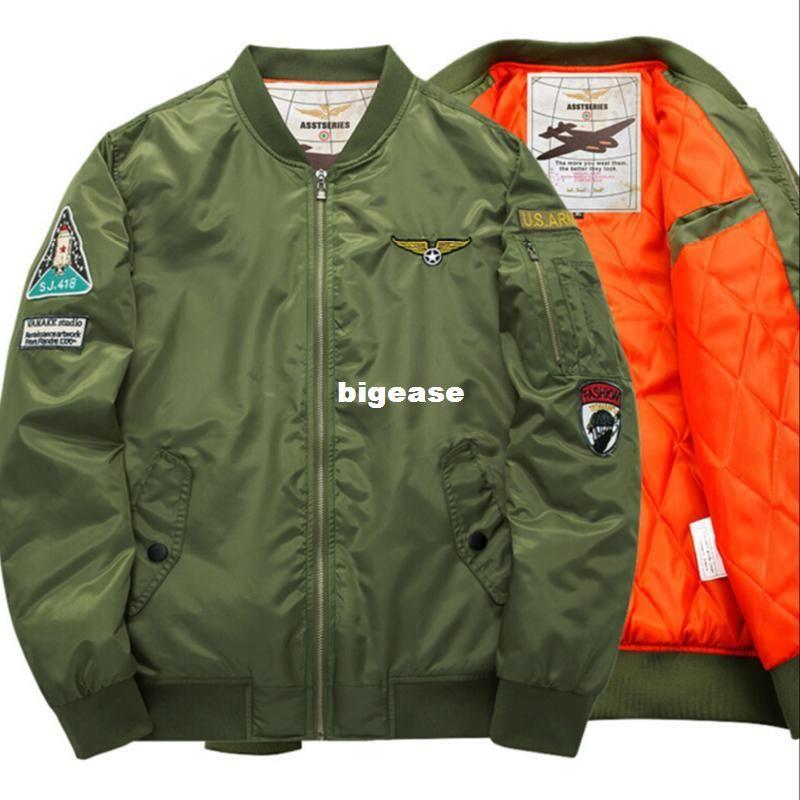 7b8fd580a Wholesale- Nasa bomber Jacket men Women Pilot MA1 man Coat winter hombre  Jaqueta Flight Air Force Baseball army green Kanye West jacket