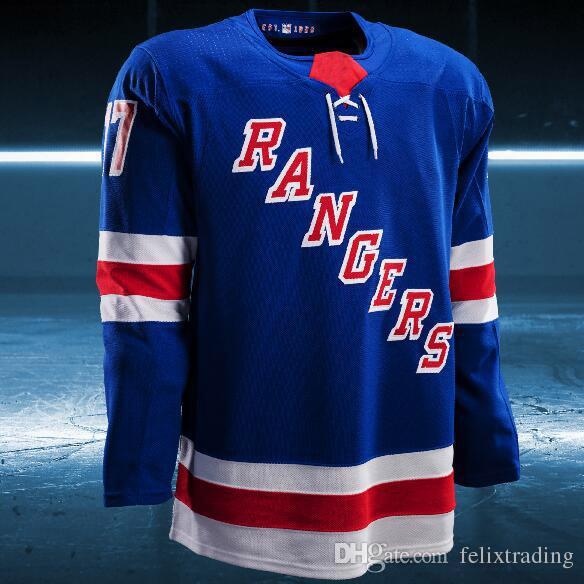 19ea27d432e 2019 2017 2018 Season Custom Ryan McDonagh Henrik Lundqvist New York  Rangers Dan Girardi Nick Holden Kevin Klein Brady Skjei Marc Staal Jerseys  From ...