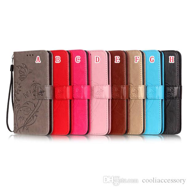 Flower Butterfly Chain Wallet Leather Pouch Case For Huawei Ascend P8 P9 Lite Plus G8 Honor Y6 4C 5C 5X Nexus 6P Card Stand Soft TPU Cover