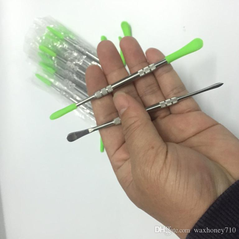 Preço baixo dabbers cera dabber ferramentas dabber ponta de silicone ponta dab ferramenta 121mm para vaporizador dab marca OEM aceitar logotipo personalizado