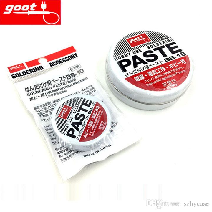 Original Japan GOOT brand BS-10 Hobby Use Resin Solder Paste NW.10g Weak Acid Welding Flux