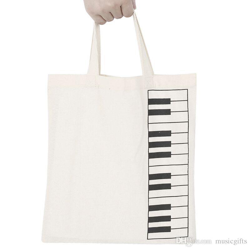 Клавиатура хлопок сумки хлопок сумка шоппер сумки студенты музыкального многоразовые сумки 30*34см