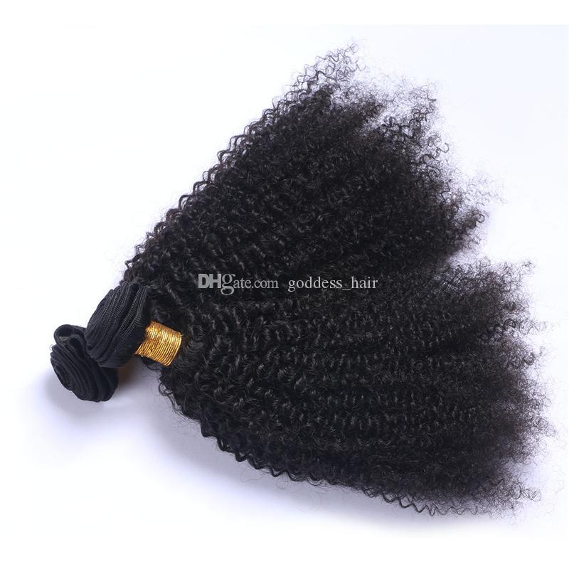 Hot Beauty Kinky Curly Hair Weaves Brazilian Human Hair Bundles Afro Kinky Curly Hair Extensions For Black Woman