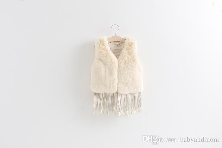 2016 New Kids winter Tassel Fur Waistcoat Children Clothing Fashion Casual Tassel Coat Vest