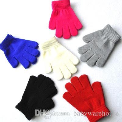 82d10e18b 2018 Winter Warm Baby Gloves Children Knitted Stretch Mittens Kids ...