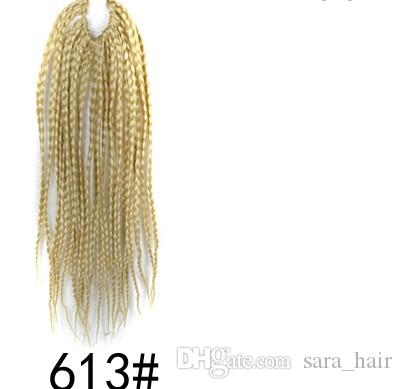 Sara Woman Hair Braids Micro Box Afro Twist Braiding Hair Extension Kanekalon Hair Piece Hairpiece 22Roots/Pack 45CM,18""
