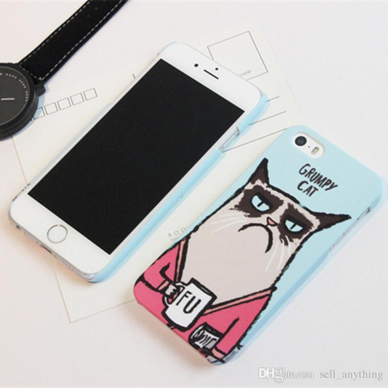Cute Cartoon Cell Phone Cases Belle mode créative Grumpy Cat Phone Covers pour iPhone 6s 5s 71