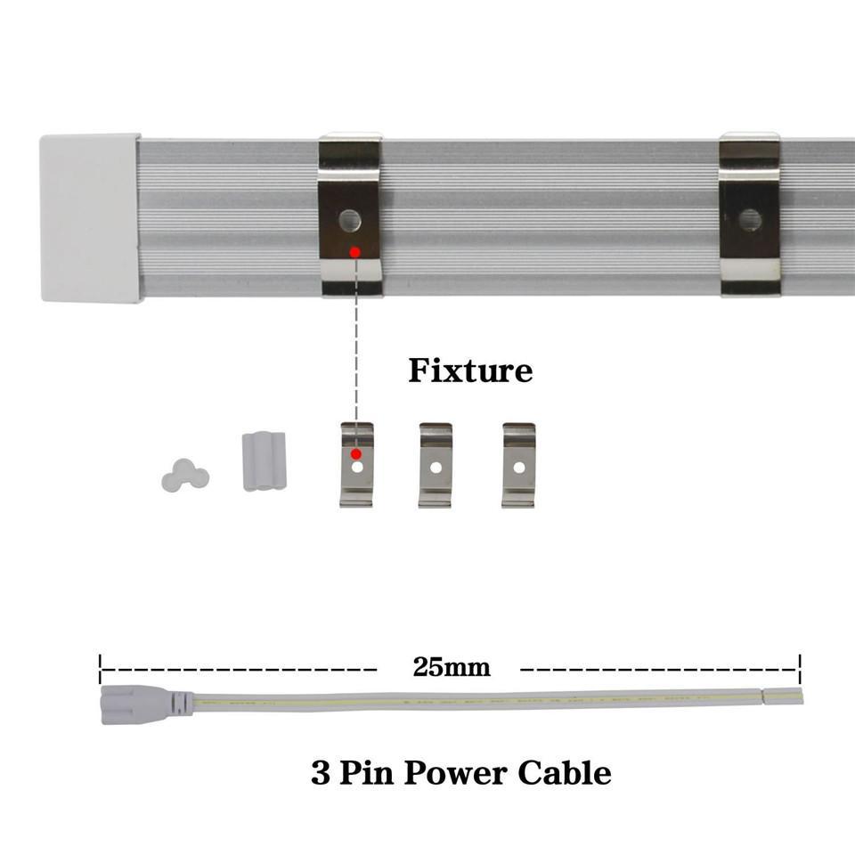 Stock Aux États-Unis + 4 pi 5 pi 6 pi 8 pi Tube LED V Forme Tubes LED intégré 8 pi Cooler porte du congélateur éclairage LED