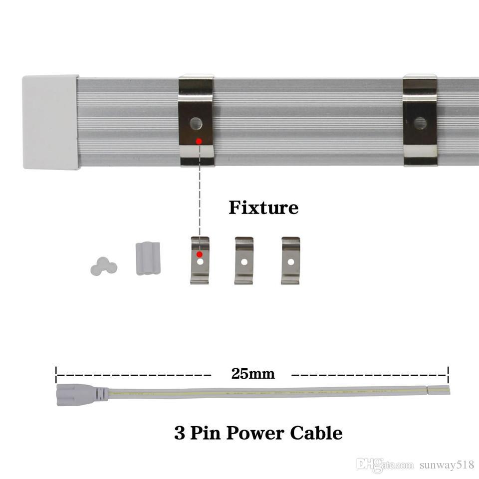 T8 v شكل 8ft أدى أضواء أنبوب متكاملة 8 القدم تبريد الباب الإضاءة صف مزدوج متجر أضواء المكونات واللعب