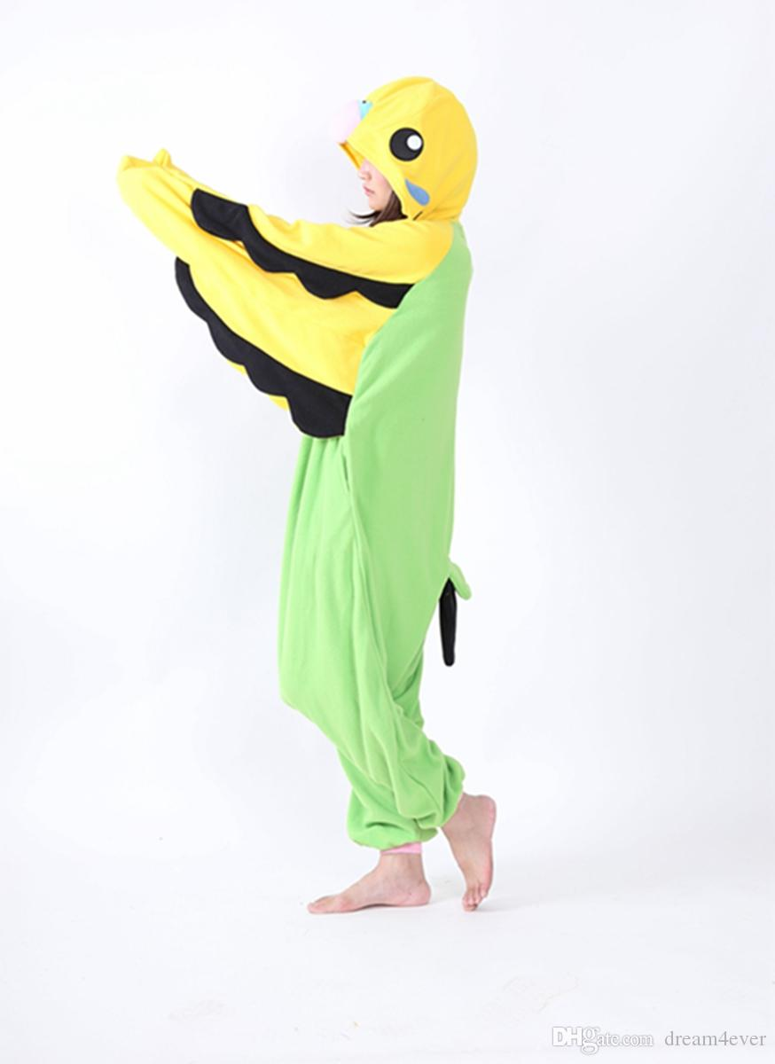 SS Easter Anime Lovely Parrot Cosplay Animal Onesie Adult Unisex Jumpsuit Big Wings Pajamas Halloween Christmas Party Costumes