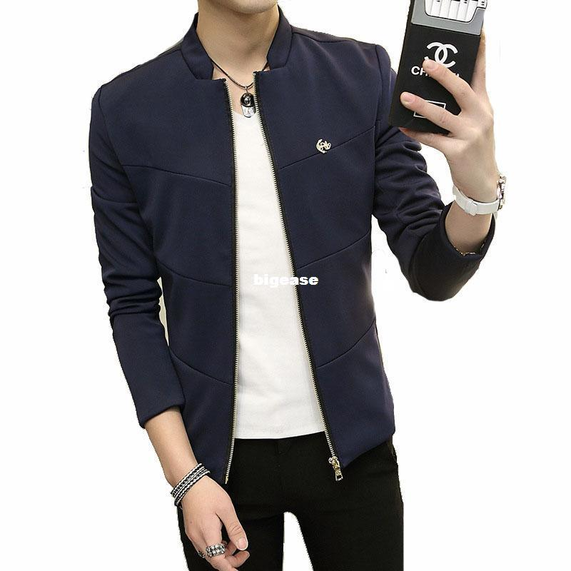 Wholesale Bomber Jacket Men Casual Slim Jackets Mens Stand Collar Coat  Jaqueta Masculina Veste Homme Brand Clothing Plus Size 4XL 5XLYA130 White Coat  Jacket ... 62cc82259227