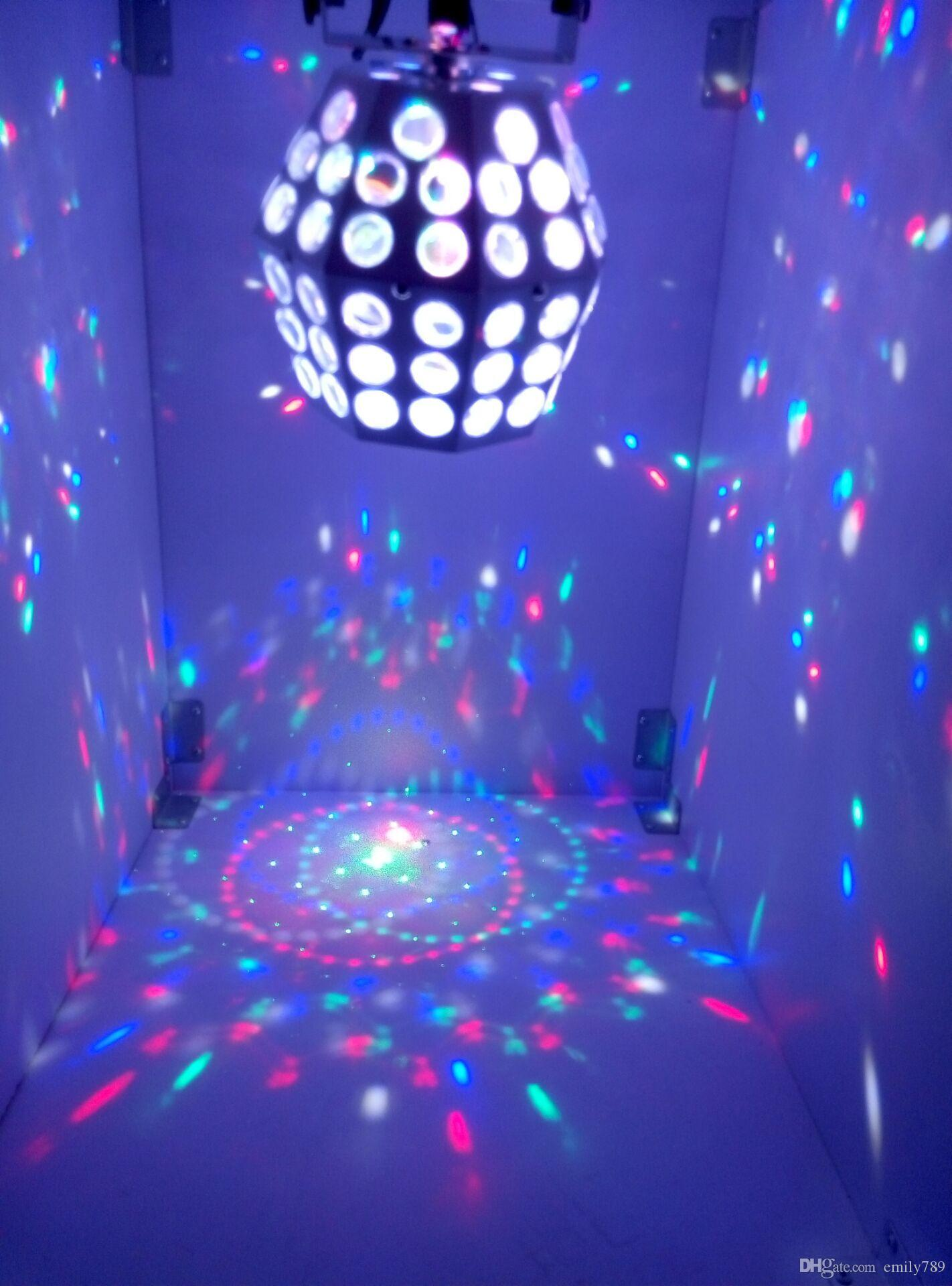 The stage lights flash KTV ballroom lights magic crystal ball wedding bar light beam laser light lamp 30W RGBW